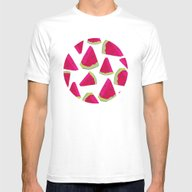 Watermelon Love Mens Fitted Tee White SMALL