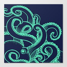 Octopus and the Deep Blue Sea  Canvas Print