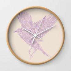 Flight in Swirls Wall Clock