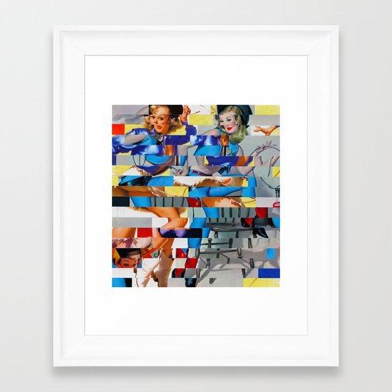 Glitch Pin-Up: Yasmin & Yardley Framed Art Print