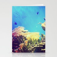 In The Big Blue World Stationery Cards
