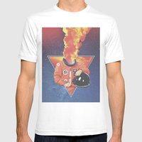 Space Case Mens Fitted Tee White SMALL