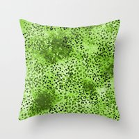 Wild (Series) Lime Throw Pillow