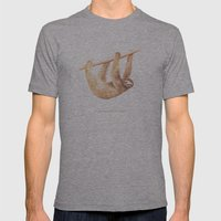 Css Animal: Sloth Mens Fitted Tee Athletic Grey SMALL