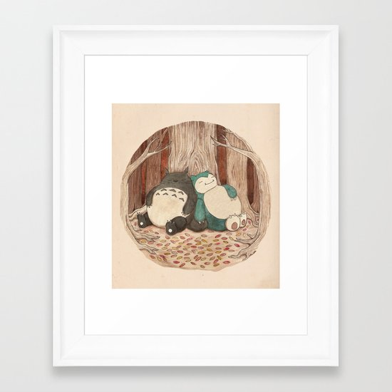 Best Friends Forevah Framed Art Print