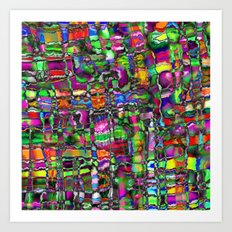 Colour In The Detail - Abstract Chaotic Pattern Art Print