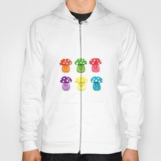cute mushroom emoji watercolor painting  Hoody
