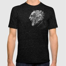 Homeless man4 Mens Fitted Tee Tri-Black SMALL
