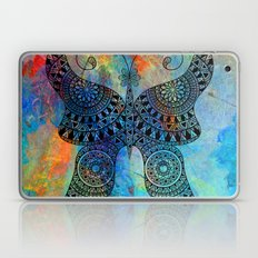 Drawn Butterfly on Colors Laptop & iPad Skin