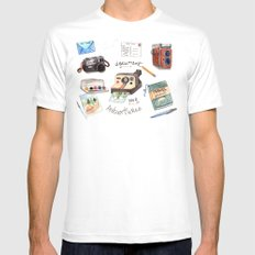 Document Your Adventures SMALL Mens Fitted Tee White