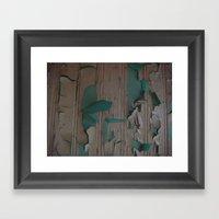 Paint Peel 2 Framed Art Print