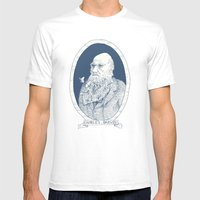 By Darwin's Beard Mens Fitted Tee White SMALL