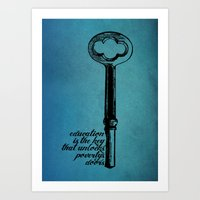 Education Key. Art Print