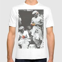 Brighten Up Lads Mens Fitted Tee White SMALL