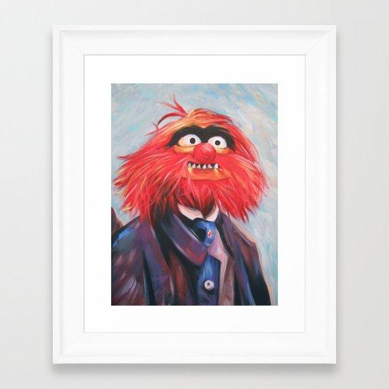 Portrait Of An Animal Framed Art Print
