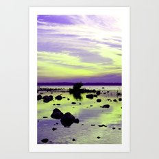 Atomic twilight Art Print
