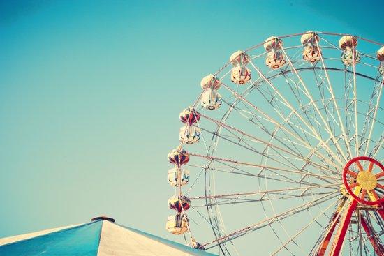 I Don't Want Love, Ferris Wheel on Blue Sky Art Print