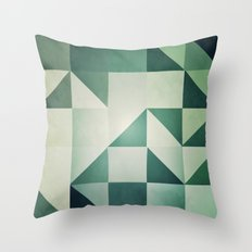 :: geometric maze x :: Throw Pillow