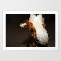 Stuffed Giraffe #2 Art Print