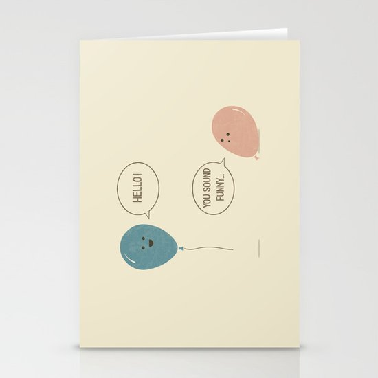 Balloons Stationery Card