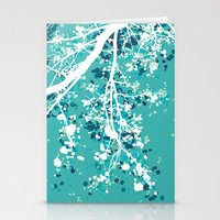 Carefree Days (mint edition) Stationery Cards