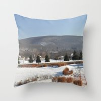 Winter Snow Scene Landsc… Throw Pillow