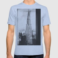NY Chrysler Mens Fitted Tee Athletic Blue SMALL