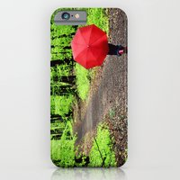 iPhone & iPod Case featuring rainy woods by Danielle W