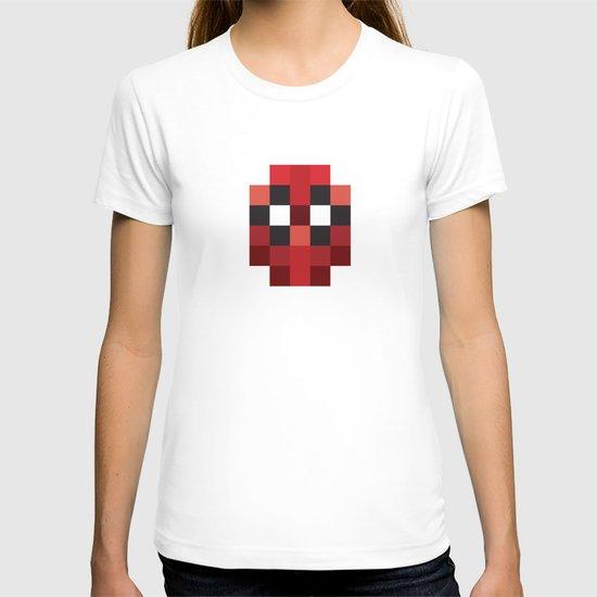 hero pixel red blue T-shirt