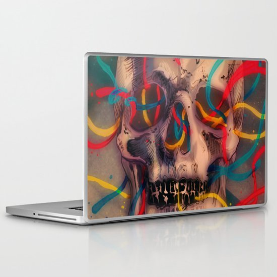 '' sad music plays '' Laptop & iPad Skin