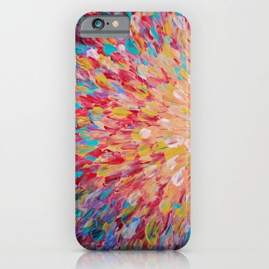 SPLASH - WOW Dash of Cheerful Color, Bold Water Waves Theme, Nature Lovers Modern Abstract Decor iPhone & iPod Case