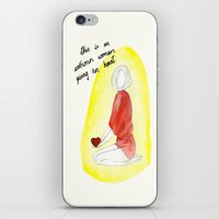 Unknown woman giving her heart iPhone & iPod Skin