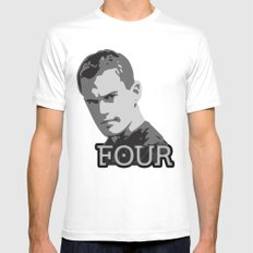 Divergent: Four SMALL White Mens Fitted Tee