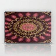 Golden Mandala (red) Laptop & iPad Skin