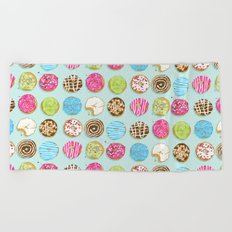 Sweet donuts Beach Towel
