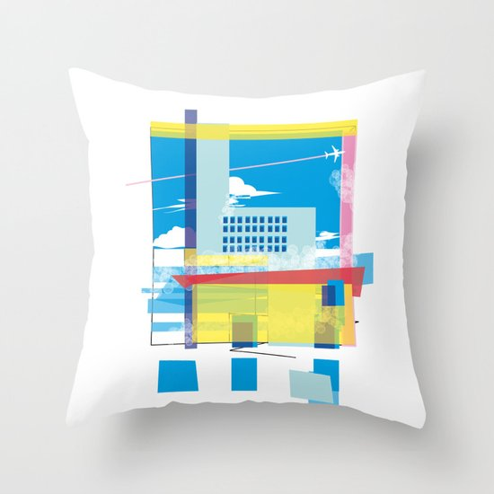 funky town Throw Pillow