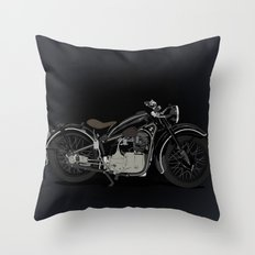 1937 Black Throw Pillow