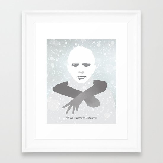 The Girl With The Dragon Tattoo Framed Art Print