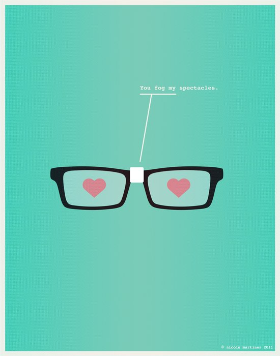 You Fog My Spectacles Art Print