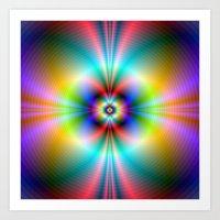 Neon Energies Art Print