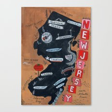 NEW JERSEY Canvas Print