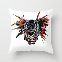 Psychedelic Clown Throw Pillow
