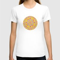 Psychedelic Womens Fitted Tee White SMALL