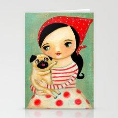 Babushka And Pug By Tasc… Stationery Cards