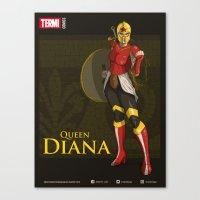 QUEEN DIANA (Golden) Canvas Print