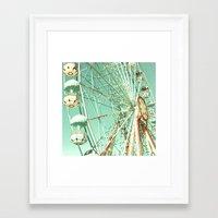 Gira Gira Gira, Ferris Wheel Framed Art Print