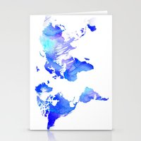 Watercolour World Stationery Cards