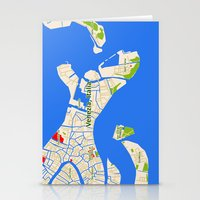 Venice Italy Map Design … Stationery Cards