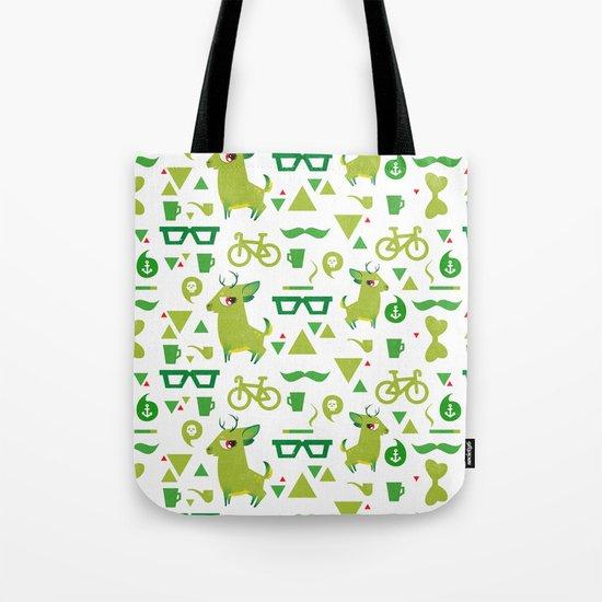 Hipsdeer (green) Tote Bag