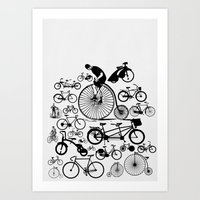 Bicycles Art Print